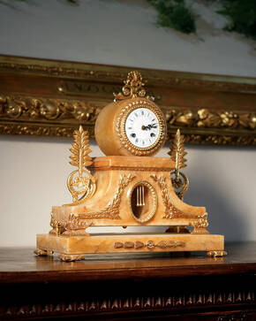 M-A119-1 Brandy Alabaster Clock
