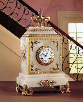 M-A120 White Alabaster Clock