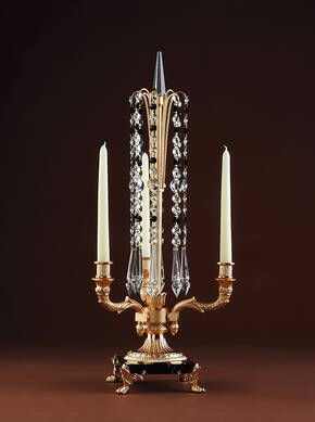 M-A125 Crystal And Bronze Candelabra