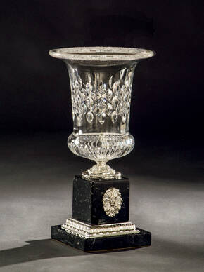 M-A134 Crystal And Marble Vase