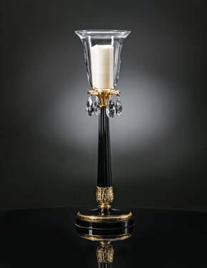 M-A159 Black And Gold Candlestick