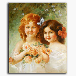 AN-10-49 Original oil painting - Children