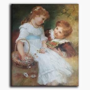 AN-10-94 Original oil painting - Children