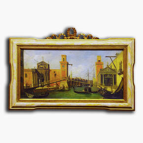 AN-12-68 Original oil painting with frame - Venice