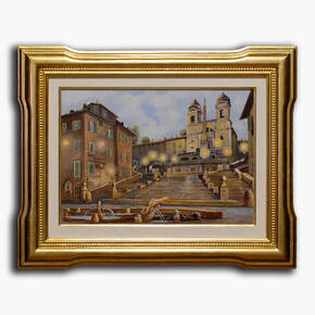 AN-18-340 Original oil painting with frame - Scenic