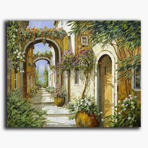 AN-18-141 Original oil painting - Archway