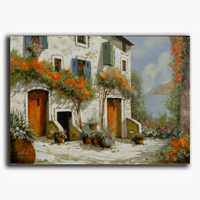 AN-18-300 Original oil painting - Farm house