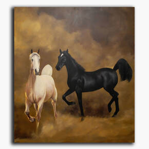 AN-1-80 Original oil painting - Arabian horses