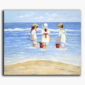AN-20-215 Original oil painting - Beach