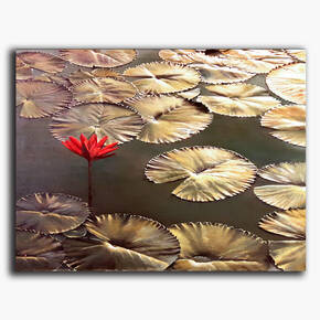 AN-21-222 Original oil painting - Water lilies