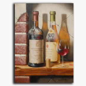 AN-24-01 Original oil painting - Vintage wine