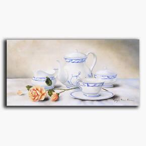 AN-26-73 Original oil painting - Tea time