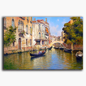 AN-28-131 Original oil painting - Venice