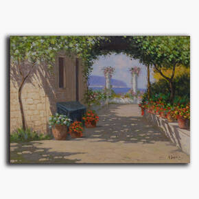 AN-48-117 Original oil painting - Garden