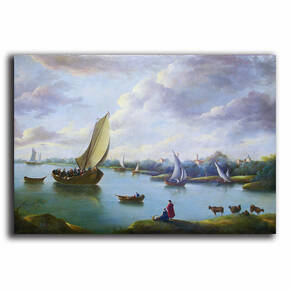 AN-6-26 Original oil painting - Ships and Sails