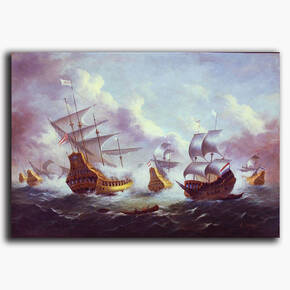 AN-6-28 Original oil painting - Ships and Sails