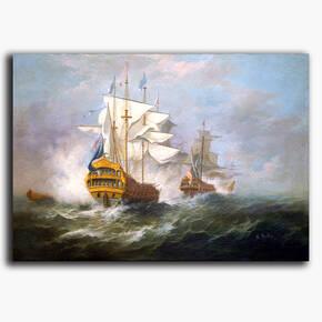 AN-6-40 Original oil painting - On the high seas