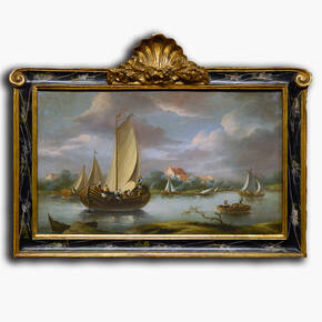 AN-6-46 Original oil painting with frame - Ships and Sails