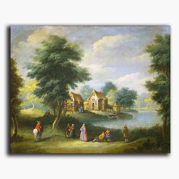 AN-8-154 Original oil painting - River life