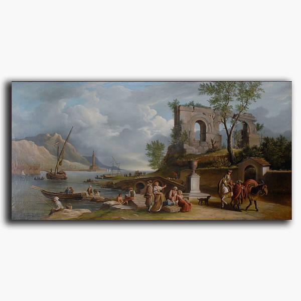 AN-8-159 Original oil painting - River life