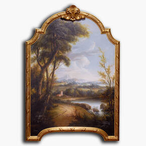 AN-8-238 Original oil painting with frame - Scenic