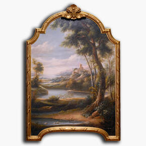 AN-8-239 Original oil painting with frame - Scenic