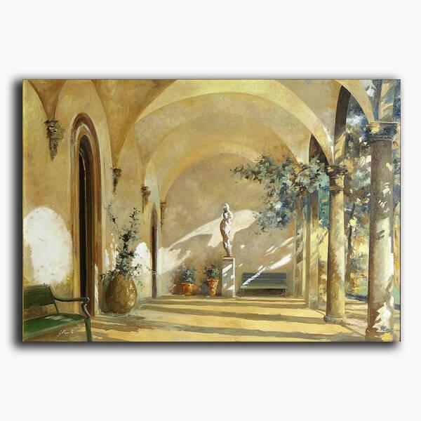 AN-9-15 Original oil painting - Villa