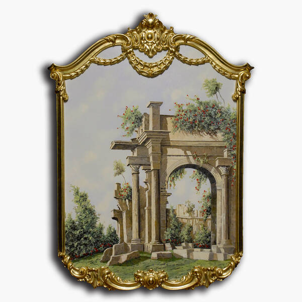 AN-9-78 Original oil painting with frame - Ruins