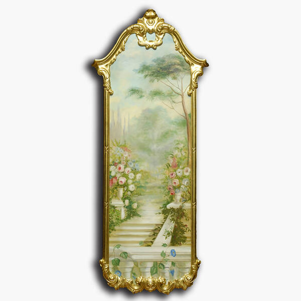 AN-9-82 Original oil painting with frame - Garden
