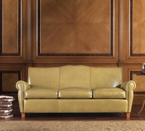 OR-241-3S Transitional Leather Sofa