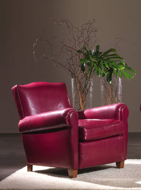 OR-241-A Transitional Leather Armchair