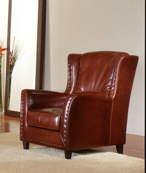 OR-242-A Transitional Leather Armchair