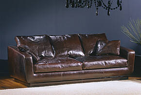 OR-244-3S Transitional Leather Sofa