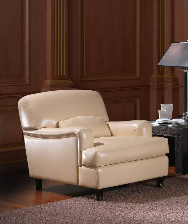 OR-246-AB Transitional Leather Armchair
