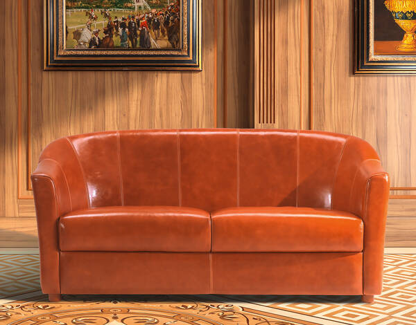 OR-250-2S Contemporary Leather Love Seat