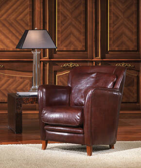 OR-235-A Contemporary Leather Armchair