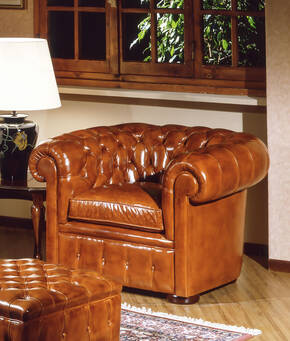 OR-238-A English Chesterfield Arm Chair
