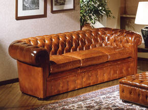 OR-238-3S English Chesterfield Leather Sofa