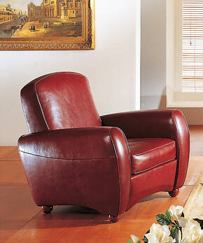 OR-243-A Transitional Leather Armchair