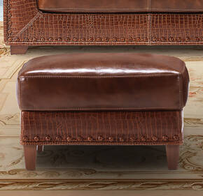 OR-237-O Transitional Leather Ottoman
