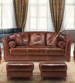 OR-237-3S Transitional Leather Sofa