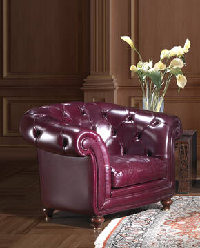 OR-247-A Traditional Tuxedo Leather Armchair