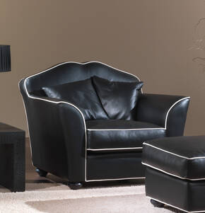 OR-248-A Transitional Leather Armchair