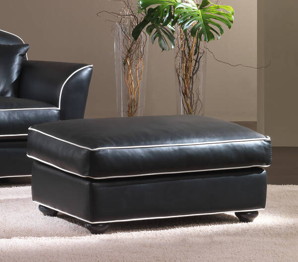 OR-248-O Transitional Leather Ottoman