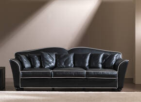 OR-248-3S Transitional Leather Sofa