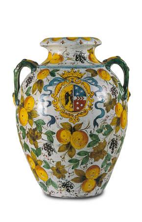 CEC-166 Cafaggiolo Style Terracotta Urn