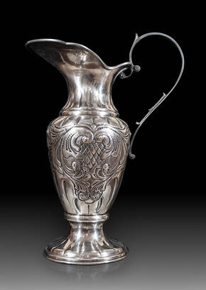 CDP-196 Large Pewter Pitcher