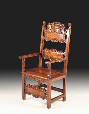 GM-40-13 Antique Wooden Armchair
