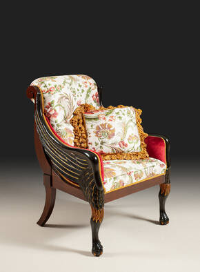 RM-P188 Hand Carved Empire Arm Chair