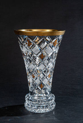 CDM-727-350 Louis XIV Clear Crystal Vase